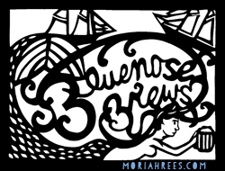 Beer Labels: Mermaid Bluenose Brews